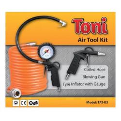Blow Gun, Tyre Gauge & Coil Hose Kit  / TONI