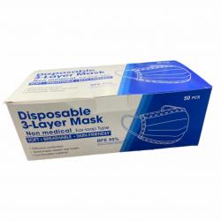 Disposable Face Masks 3 ply box/50