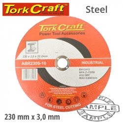 CUTTING DISC INDUSTRIAL METAL 230 X 3.0 X 22.2 MM