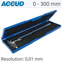 DIGITAL CALIPER 0-300MM/0-12' 0.01 METAL COVER