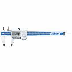 ACCUD COOLANT PROOF DIGITAL CALIPER WITH CALIBRATION CERT 0-300MM