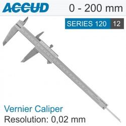 ACCUD VERNIER CALIPER 0-200MM ( 0.02MM)