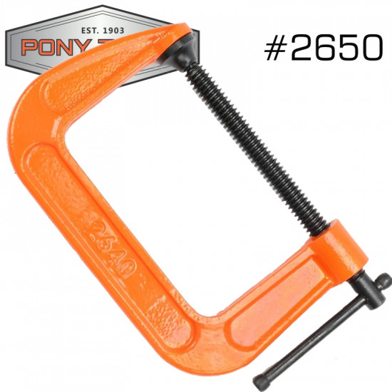 PONY 125MM 5' C-CLAMP
