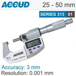 DIGITAL OUTSIDE MICROMETER IP65 25-50MM