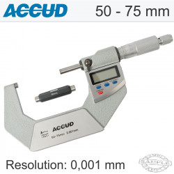 ACCUD DIGITAL OUTSIDE MICROMETER.IP65. 50-75MM (0.001MM) WITH CALIBRAI