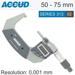 ACCUD DIGITAL OUTSIDE MICROMETER.IP65. 50-75MM (0.001MM)