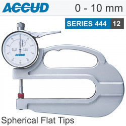 THICKNESS GAUGE SPHERICAL -FLAT TIPS 0-10MM