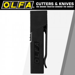 OLFA BLADES EXCEL BLACK 30/PK CARDED ULTRA SHARP 18MM WITH BELT CLIP