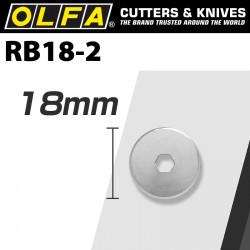 OLFA BLADES ROTARY RB18-2 2/PACK 18MM