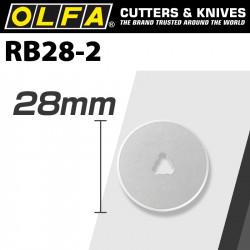 OLFA BLADES ROTARY RB28-2 2/PACK 28MM