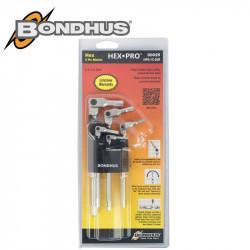 HEX-PRO WRENCH SET 5PCE METRIC 3-8MM PIVOT HEAD