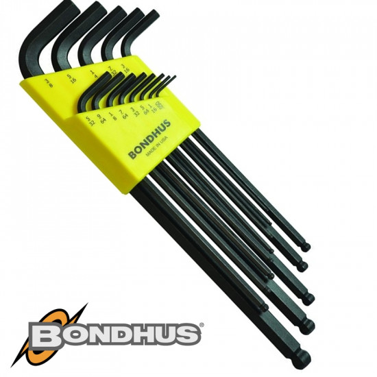 BALL END L-WRENCH 13PC SET 0.05-3/8' IMPERIAL PROGUARD FINISH
