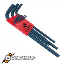 BALL END L-WRENCH 9PC SET 1.5-10MM PROGUARD FINISH