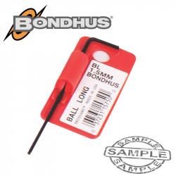 HEX BALL END L-WRENCH 1.5MM PROGUARD SINGLE BONDHUS