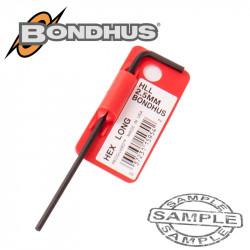 HEX END L-WRENCH 2.5MM PROGUARD SINGLE BONDHUS