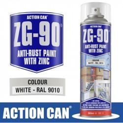 ZG-90 WHITE 500ML WHITE GALVANISING ZINC PAINT SPRAY COLD RAPID DRY