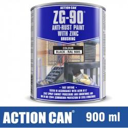 ZG-90 ANTI RUST PAINT BLACK 900ML COLD ZINC GALVANISING RAPID DRY