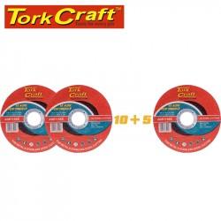 10+5 CUTTING DISC STEEL  & SS 115 X 1.0 X 22.2 MM 4X MORE PEFORMANCE