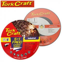 5+ 1 CUTTING DISC IND. METAL 230 X 1.8 X 22.2 MM TIN CASE