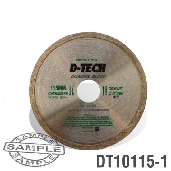 DIAMOND BLADE CONTINUOUS RIM 115 X 22.23MM