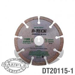 DIAMOND BLADE SEGMENTED STD. 115 X 22.23MM