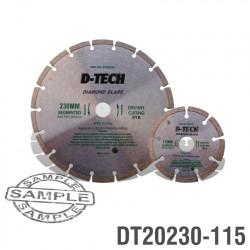 DIAMOND BLADE 230MMX22.22MM+115MMX22.2MM SEGEMENTED