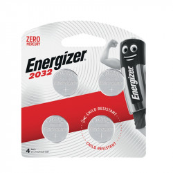 ENERGIZER 2032 3V LITHIUM COIN BATTERY 4 PACK (MOQ X12)