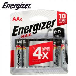 ENERGIZER MAX AA - 6 PACK (MOQ 12)