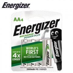 ENERGIZER RECHARGE: 2000 MAH AA - 4 PACK