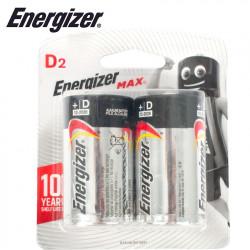 ENERGIZER MAX D - 2 PACK (MOQ 6)