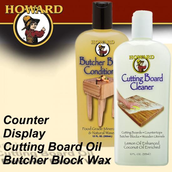 HOWARD COUNT. DISP. BUTCH. WAX  & CUTTING BOARD OIL 8 X EACH 355 ML
