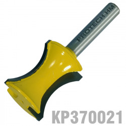 EXTERNAL BULL NOSE 24MM X 5/8' HALF RADIUS 1/4' SHANK