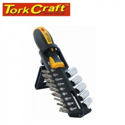 15PC SCREWDRIVER SET WITH BITS SOCKETS AND BELT CLIP