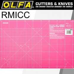 OLFA MAT ROTARY 450 X 300MM METRIC & INCH DOUBLE SIDED PINK