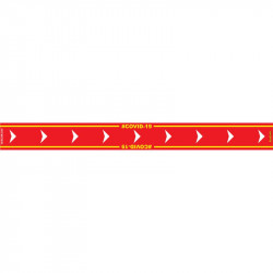 RED ARROW RIGHT - 800MM X 80MM SOCIAL DISTANCING STRIPS