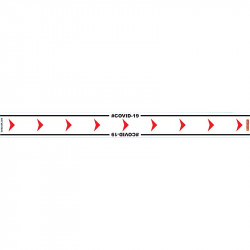 WHITE ARROW RIGHT - 800MM X 80MM SOCIAL DISTANCING STRIPS