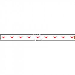 WHITE ARROW DOWN - 800MM X 80MM SOCIAL DISTANCING STRIPS