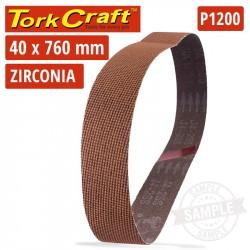 1200 GRIT ZIRCONIA SANDING BELTS 40MMX760MM