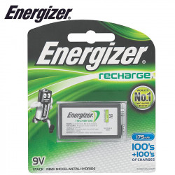 ENERGIZER RECHARGE: 9V -1 PACK (MOQ6)
