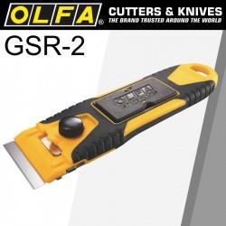 OLFA COMPACT SLIM GLASS SCRAPER S/STEEL BLADE 40MMX18MM INC 6 BLADES