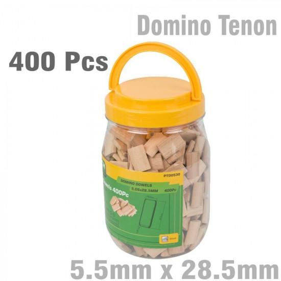 DOMINO TENON 5.5 X 28.5MM 400PC JAR BEECH WOOD