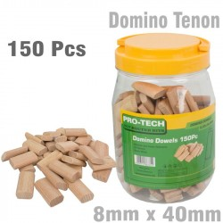 DOMINO TENON 8X40MM 150PC JAR BEECH WOOD