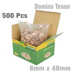 DOMINO TENON 8X40MM 500PC PER COLOUR BEECH WOOD