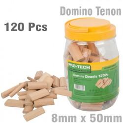 DOMINO TENON 8X50MM 120PC JAR BEECH WOOD