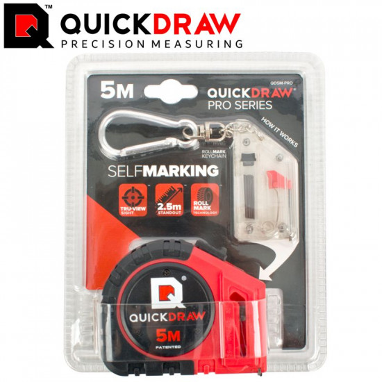 QUICKDRAW 5M TAPE MEASURE SELF MARKING