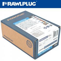 UNIVERSAL NYLON PLUG+SCREWS 6MMX50MM X50-BOX