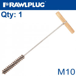 MANUAL WIRE BOTTLE BRUSHES M10 WOODEN HANDLE