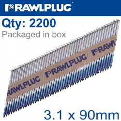 TIMBER NAILS CLIPPED GALV 3.1MM X 90MM 2200 PER BOX WITH X2 FUEL CELLS