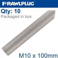 INTERNALY THREADED SOCKETS M10X100 A4 BOX OF 10