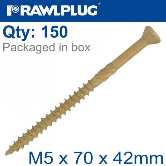 R-DSX SCREWS M5 X 70X42 GINGER RUSPERT X150-TUB